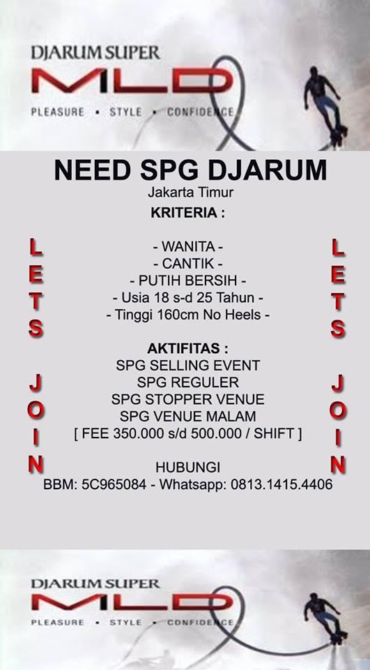 Lamar Lowongan Spg Reguler Di Arsito Agency 2021 Jobs Id